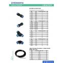 Racores automaticvos y tubo tecalán para sistema de frenos vehículos industriales