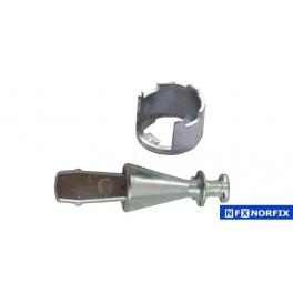Kit reparación de cerraduras Seat Ibiza-Córdoba 93-99, Seat Inca 96-03 Leva 71 mm. Gancho fino
