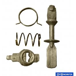 Kit reparación cerraduras VW Golf III / Vento III  92-99  - Polo 95-00 (leva de anilla ancha)